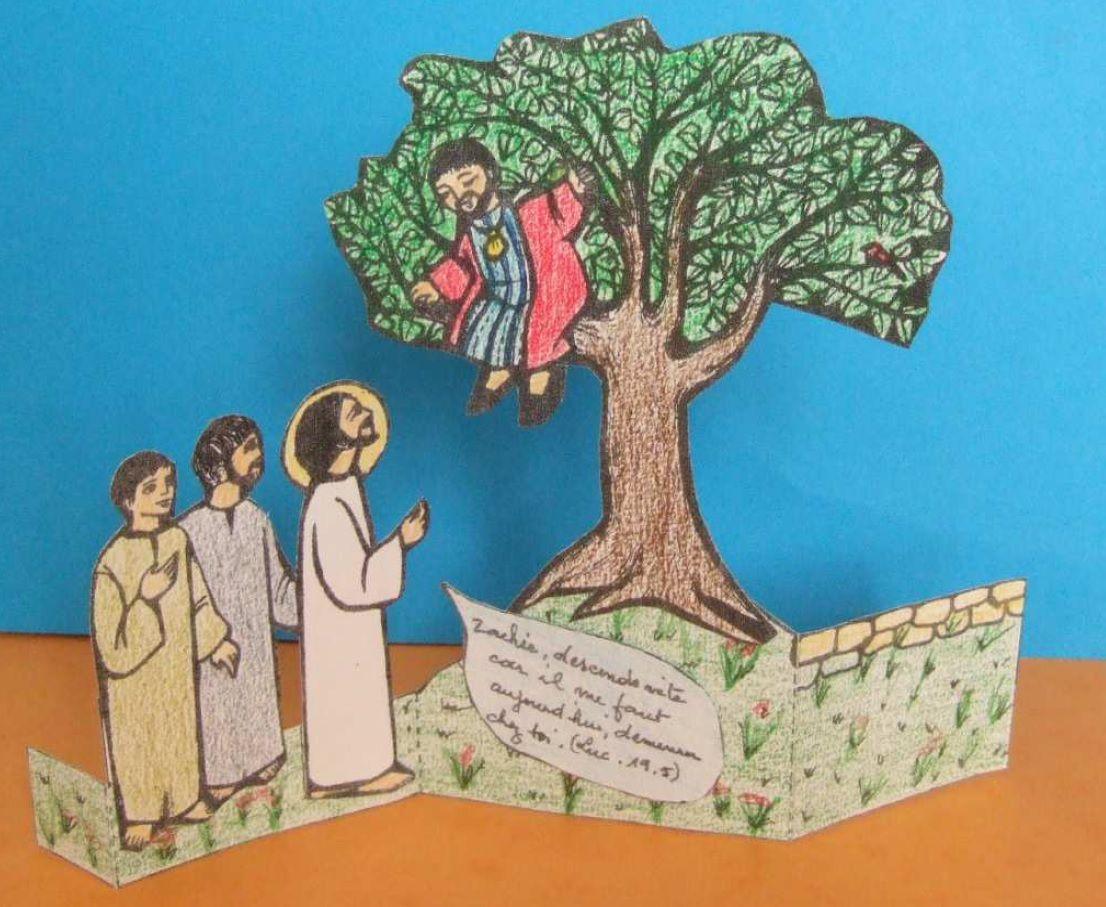 Knutselwerkje Zacheus Bible Craft Zacchaeus