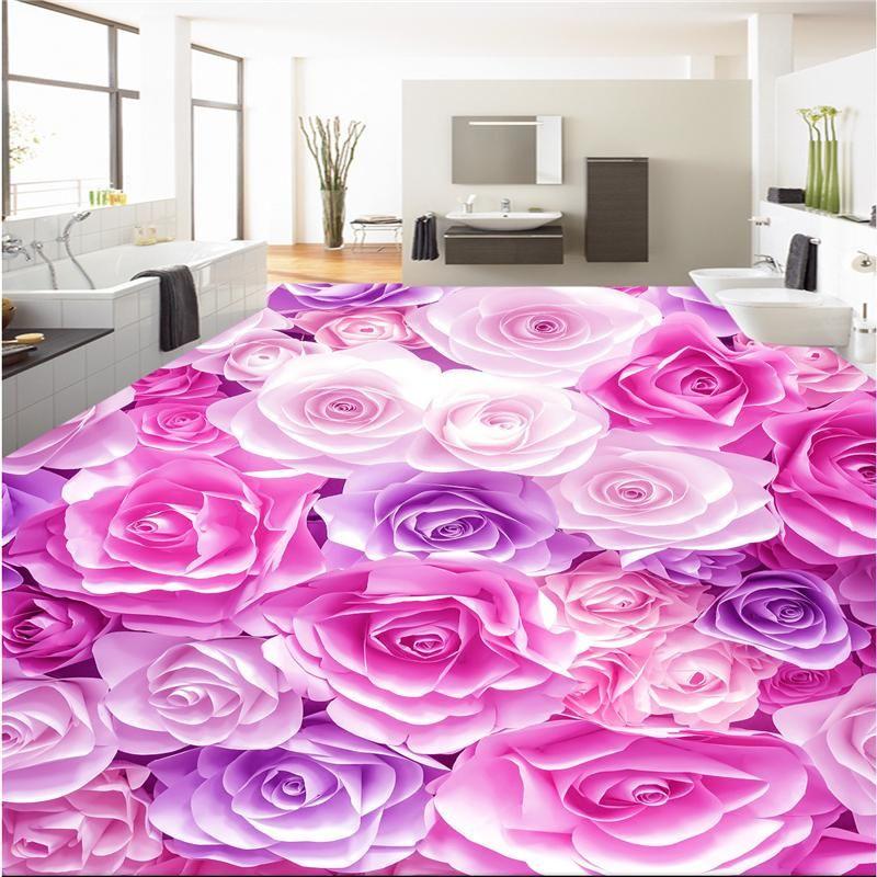 romantic rose sea 3D Wallpaper | Custom wallpaper, 3d wallpaper and ...