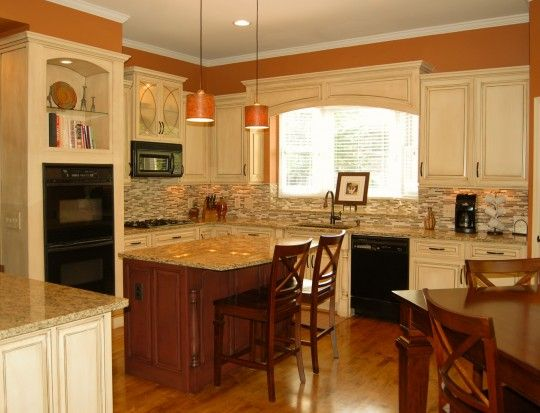 Best Like White Cabinets With Wood Floor And Warm Color Walls 400 x 300