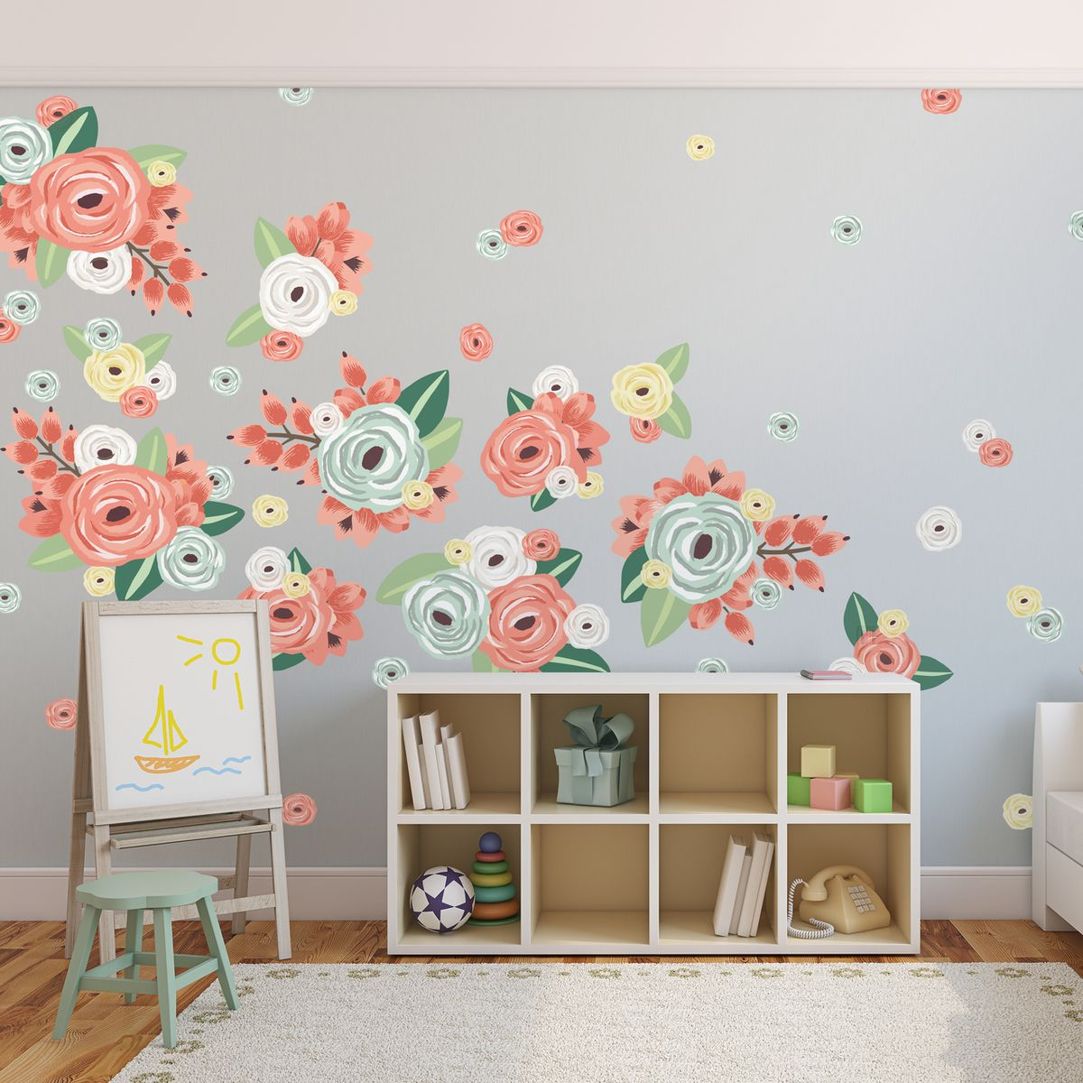 half order multicoloured graphic flowers sweet lilah baye room rh pinterest com au
