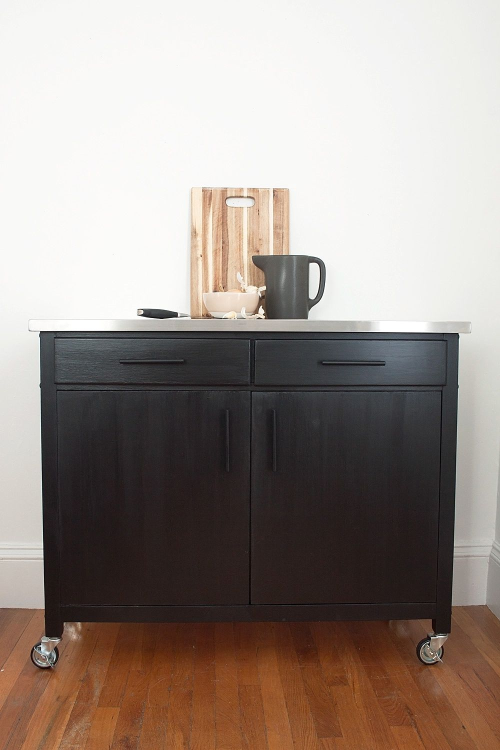 how to create the perfect kitchen cart with more storage than you rh pinterest com