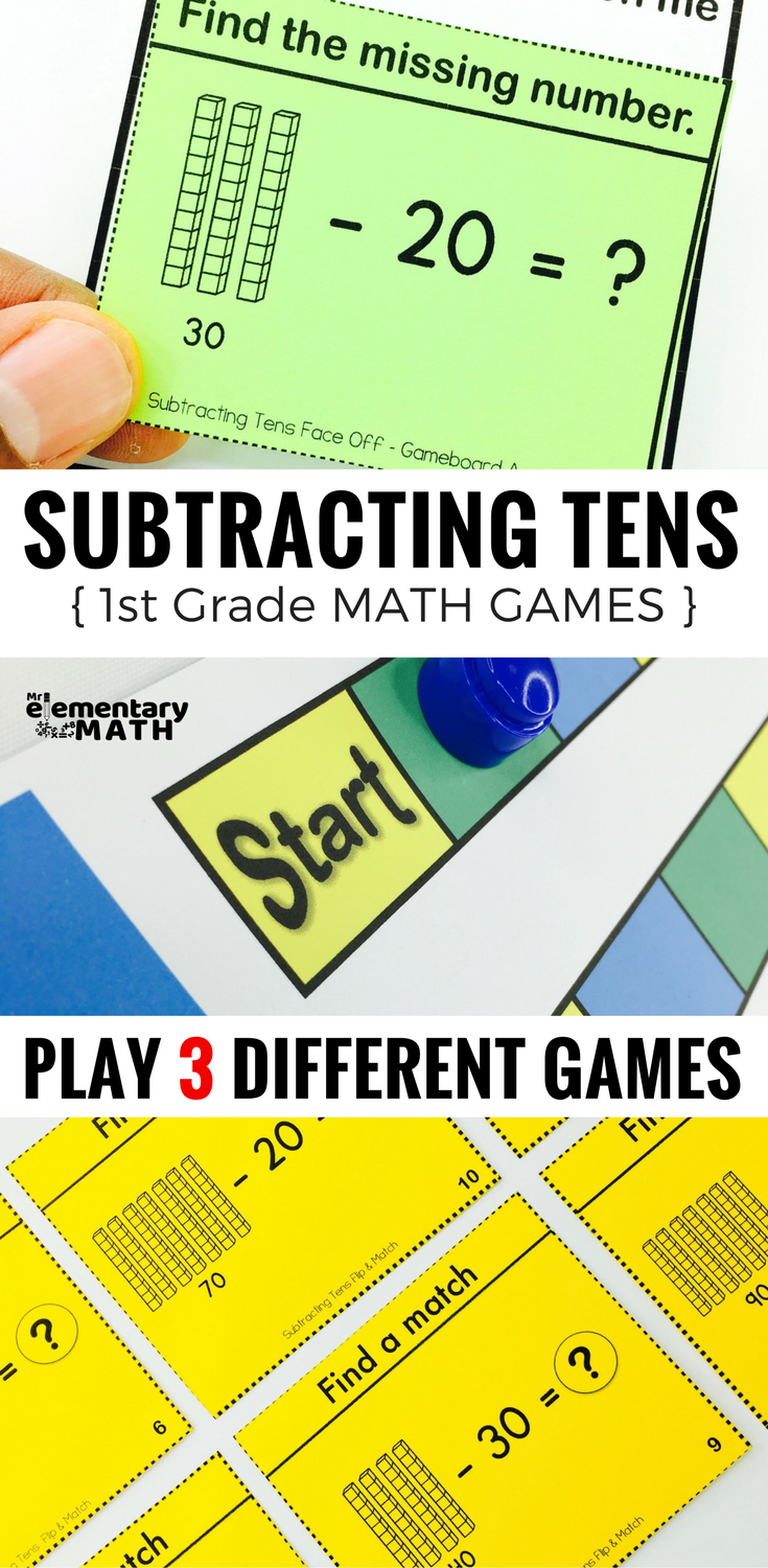 Subtraction without Regrouping Games and Centers 1st Grade | Math ...
