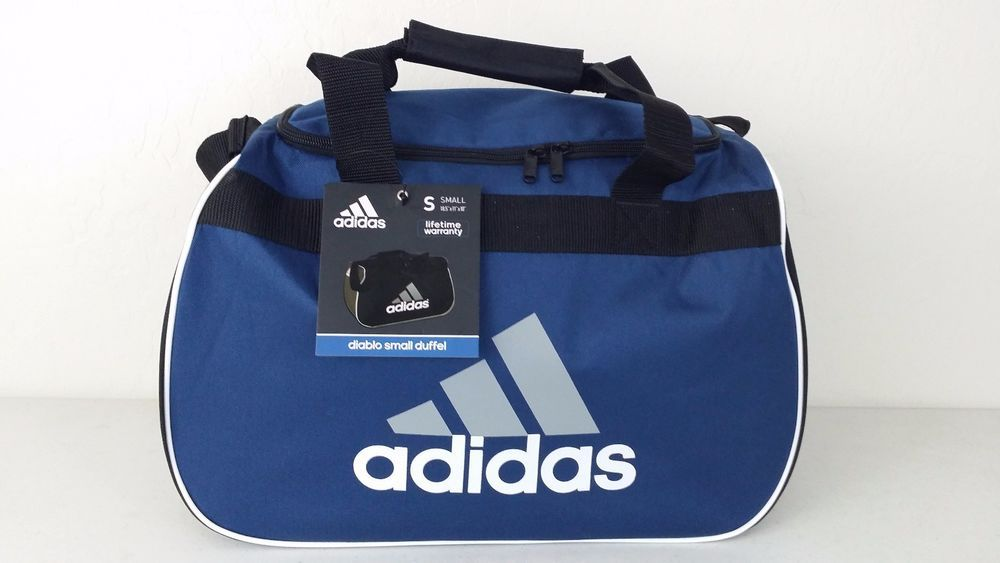 NWT ADIDAS Diablo Small II Duffel Bag Blue/BlackSports Gym Travel Expandable  #adidas #ebay #adidas #DuffelBag