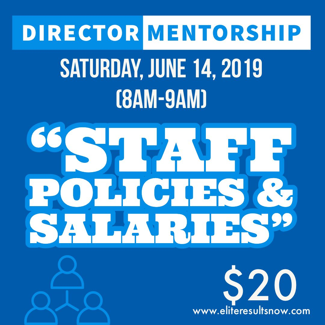 Child Care Director Mentorship Class Saturday, June 14th