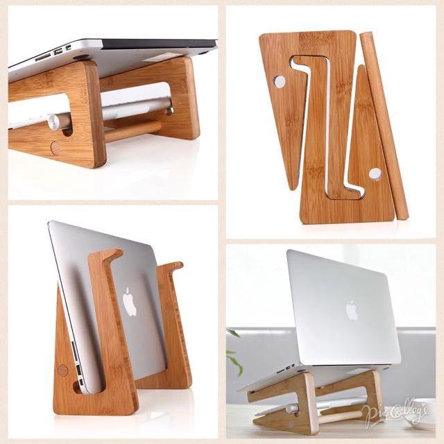 Bamboo Laptop Stand Artesanato Em Madeira Decoracao De