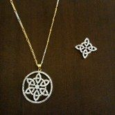 ad-pendant-set-with-earrings-and-gold-polish-chain-round-floral