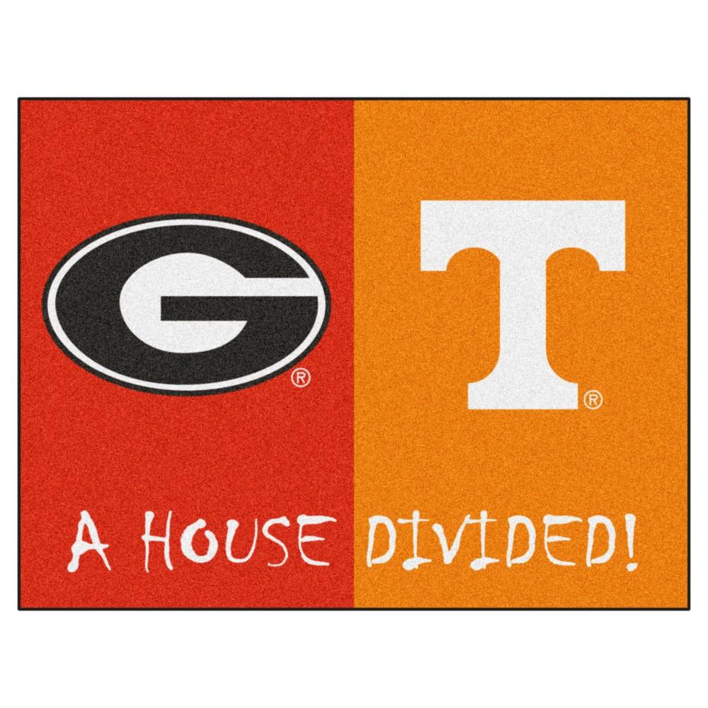 Ncaa 33 75 X 42 5 In House Divided Rug Georgia