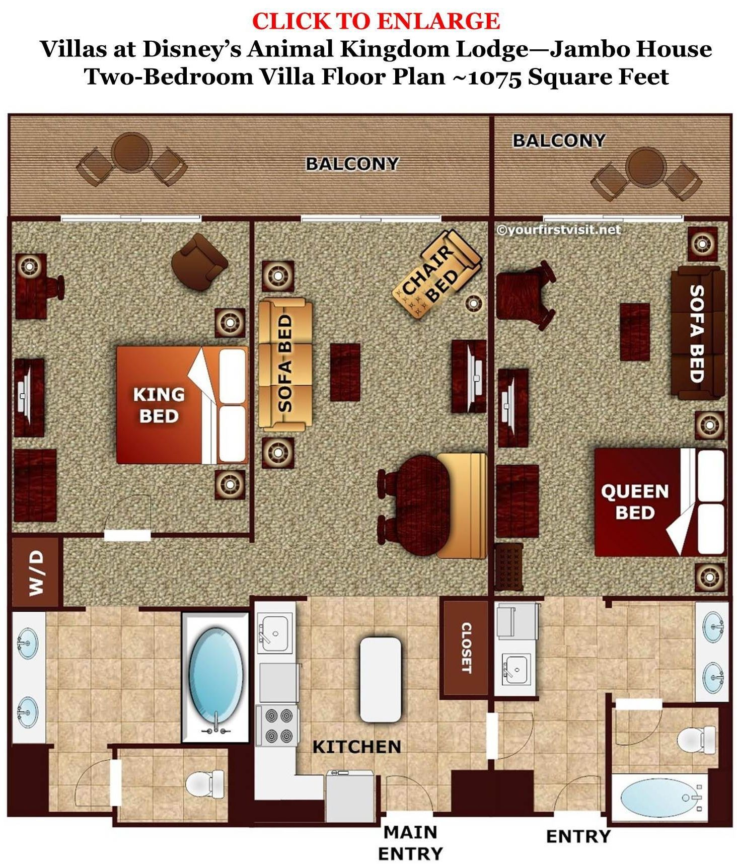 photo tour one bedroom villa bath master bedroom space disney s rh pinterest com