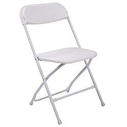 lazymoon set of 8 white plastic folding chairs commercial quality rh pinterest com