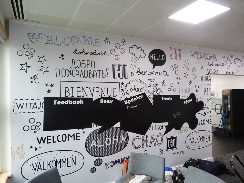 Www.vinylimpression.co.uk Custom Wall Mural With Cut To Shape Blackboard  Graphic Part 64