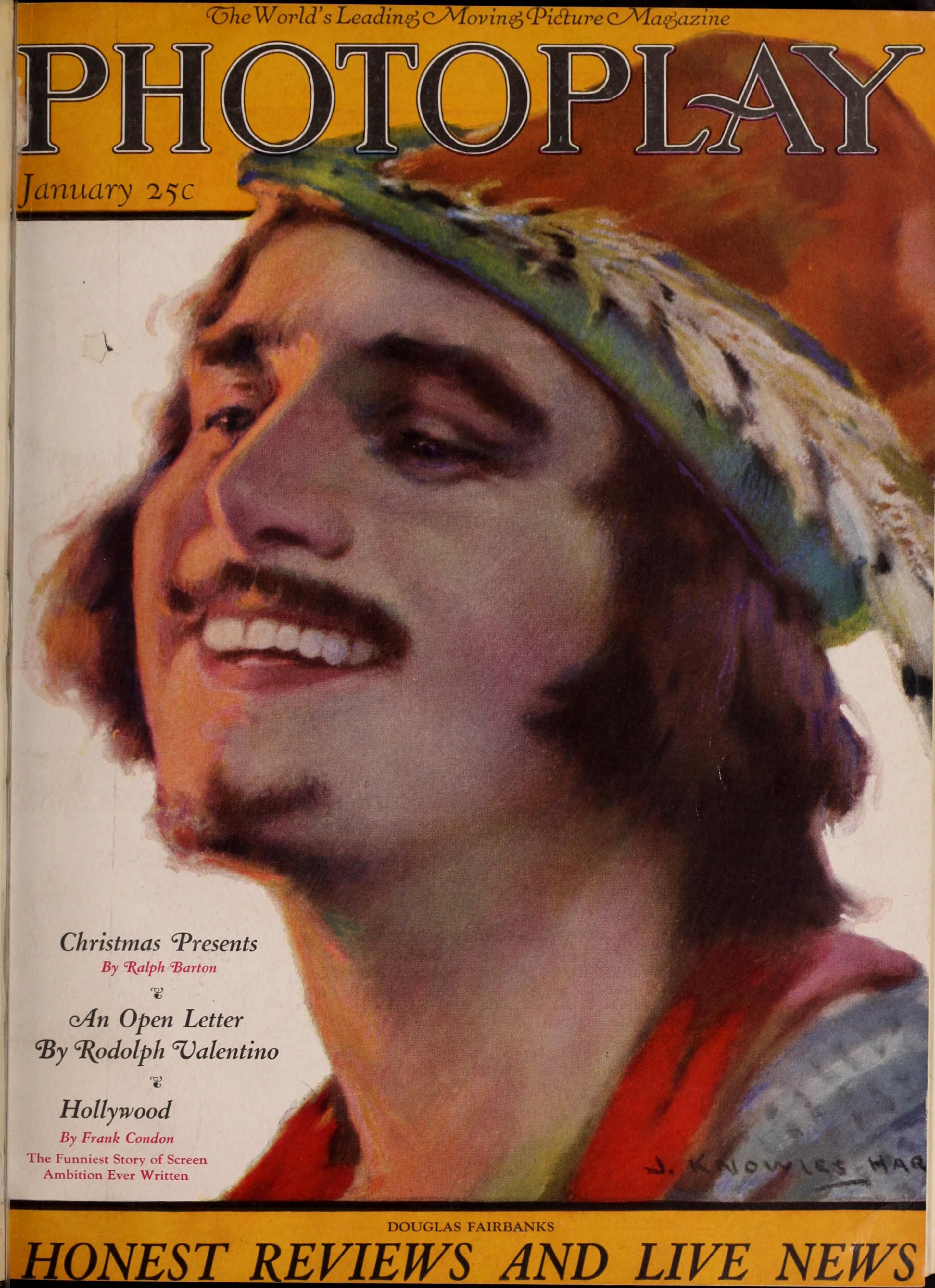 Photoplay 1923 Portada retrato de