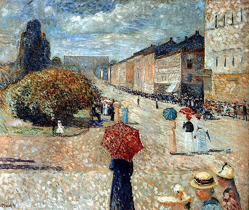 art-centric: Munch, Edvard (1863-1944) - 1890 Spring Day on Karl Johann Flickr: http://flic.kr/p/bZVtH7