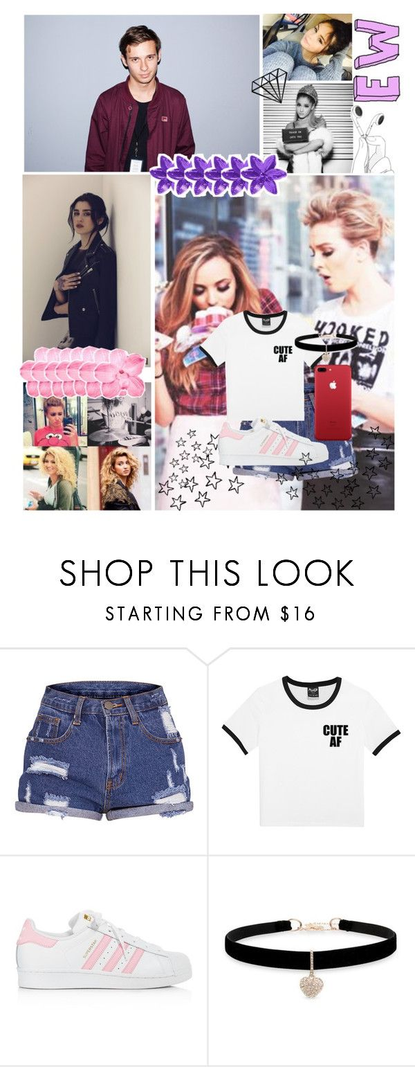 """Hey"" by never-be-you-and-me ❤ liked on Polyvore featuring adidas and Betsey Johnson"