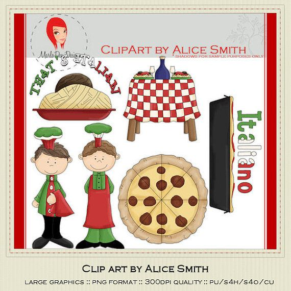 Italian Chef 2 Clipart by Alice Smith by marlodeedesigns on Etsy, $1.35
