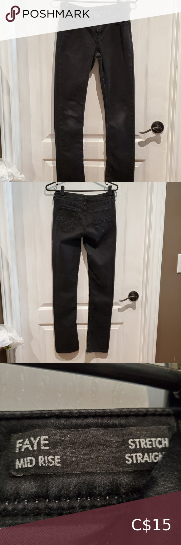 Black faye pants