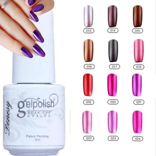 12pcs Gelish Nail Polish Uv Gel Metallic Mirror Effect Soak Off Lacquer 100 Brand New Top Quality Long Lasting Colors 13 24 5ml