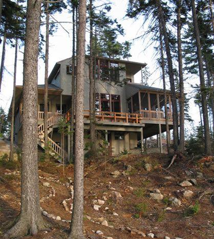Hillside house plans small lake house plans sloping lot for House plans for hillside lots