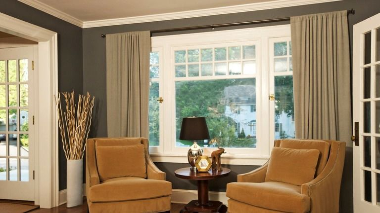 Framing Curtains Big Window Curtains Window Treatments Living