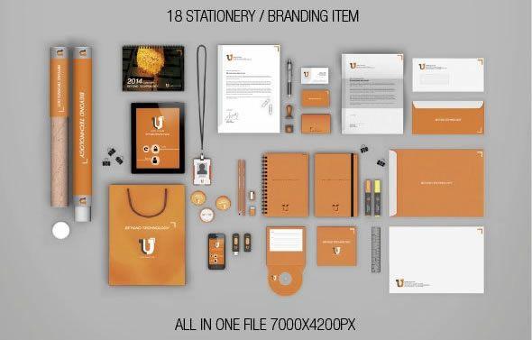 stationery branding mockups
