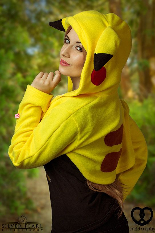 Pokemon Pikachu inspired cute yellow hoodie shrug by PretzlCosplay
