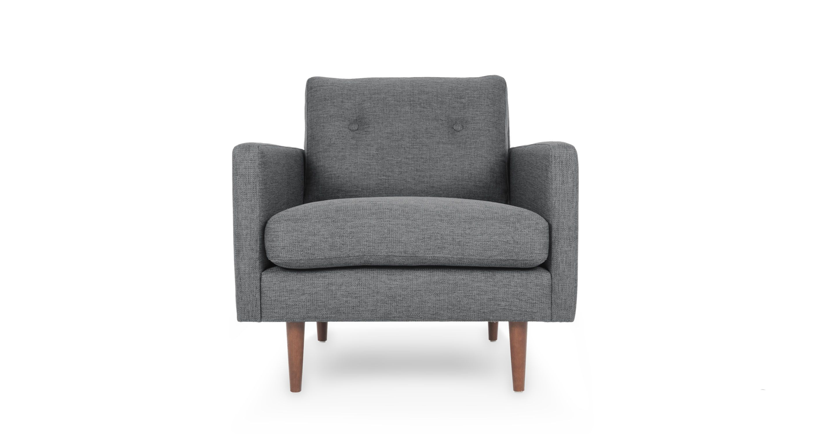 Noah Interieur Gray Armchair With Solid Wood Legs Article Noah Modern Furniture