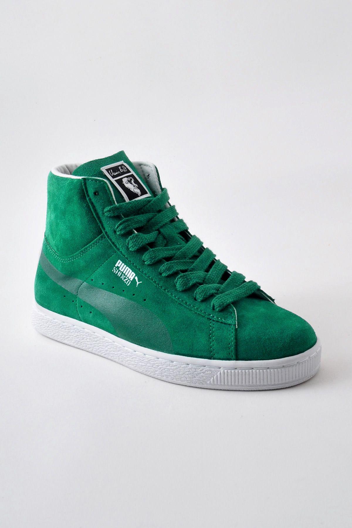 puma high tops green