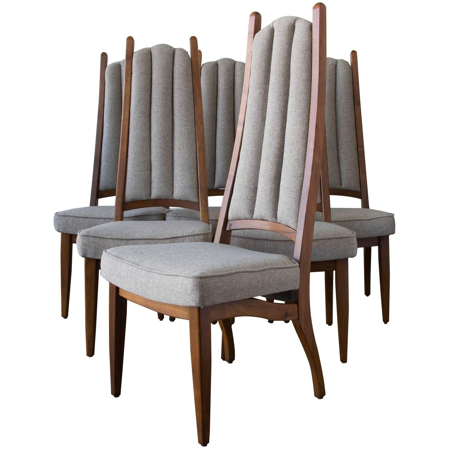 Set of Six Cal Mode High Backed Dining
