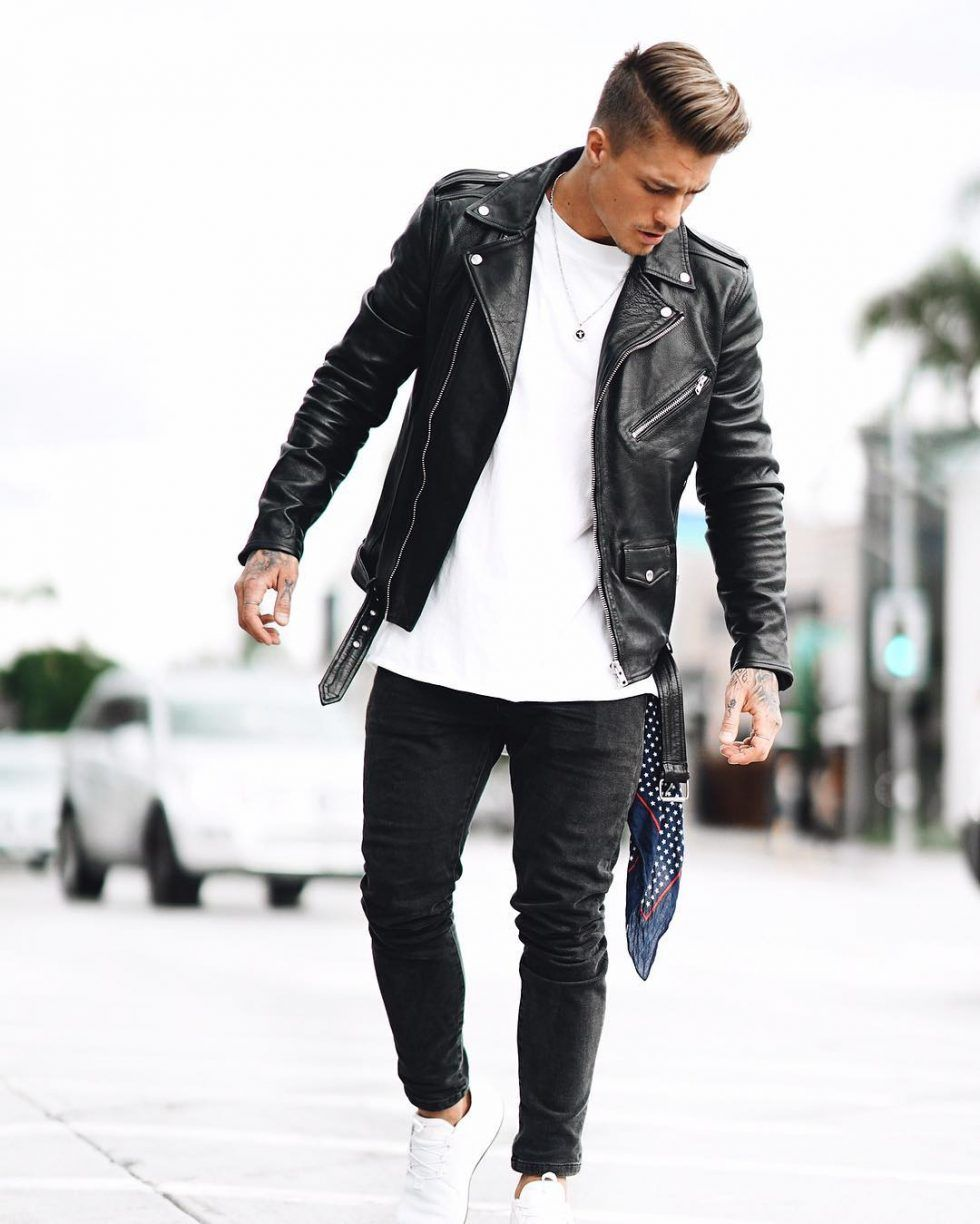 50 Best Fall Leather Jackets For Men 2018 Urban Men Outfits Black Leather Jacket Men Leather Jacket Men Mens Outfits