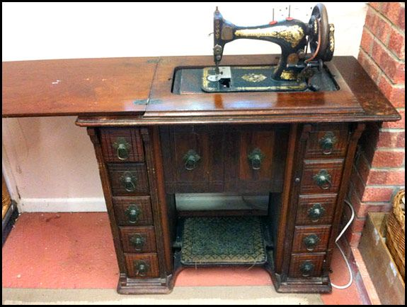 Singer 28k In Drawing Room Cabinet On Ebay Uk Treadle Sewing Machinessewing