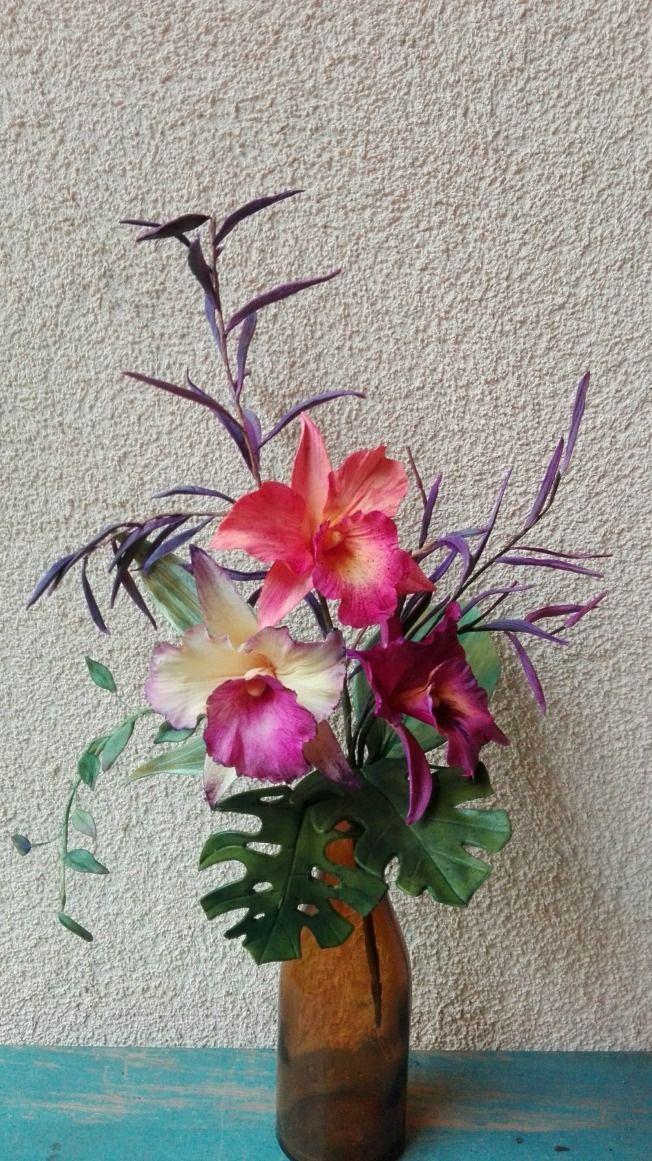 Sugar Cattleya Orchid Orchids Sugar Flowers Tutorial Paper Flowers