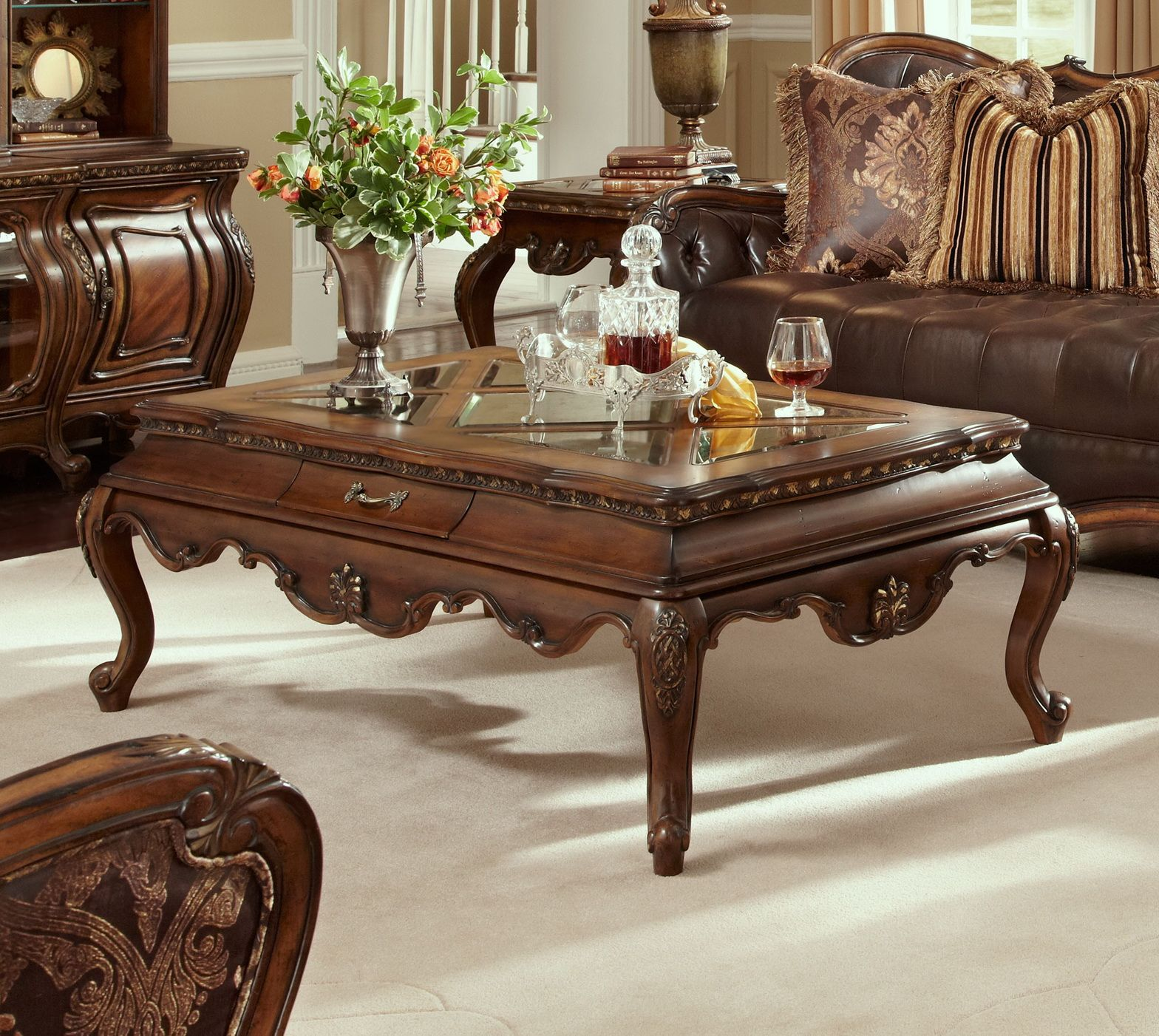 Lavelle Melange 2 Pc Occasional Table Set By Aico Coffee Table Living Room Coffee Table Decor