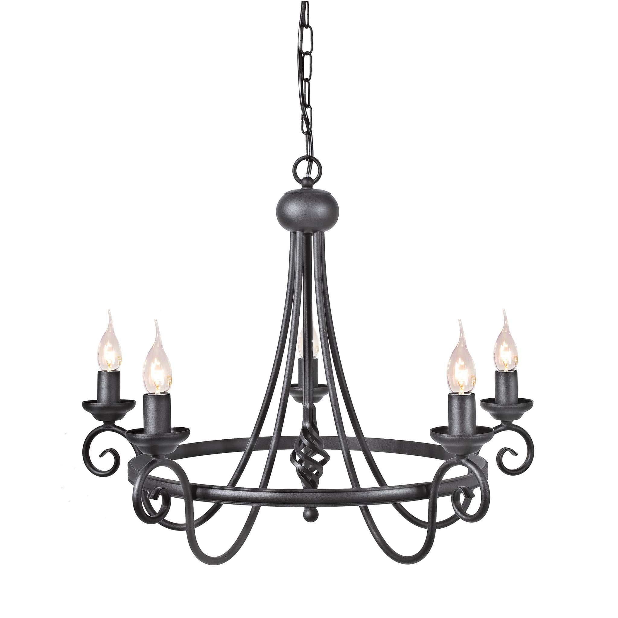 Elstead harlech 5 light black metal candle chandelier home elstead harlech 5 light black metal candle chandelier arubaitofo Choice Image