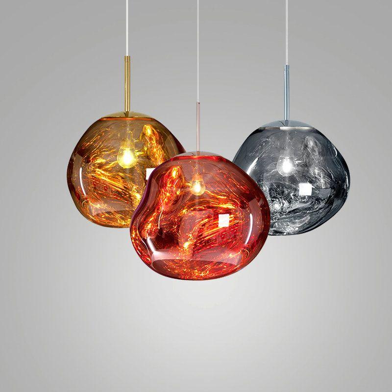 Irregular Lava Acrylic Pendant Light Colorful Glasleuchten