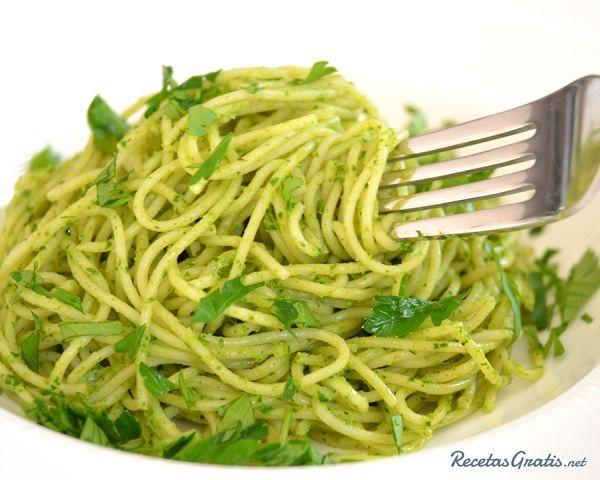 Recetas De Cocina Pasta | Receta De Espagueti Verde Con Chile Poblano Recipe Pasta