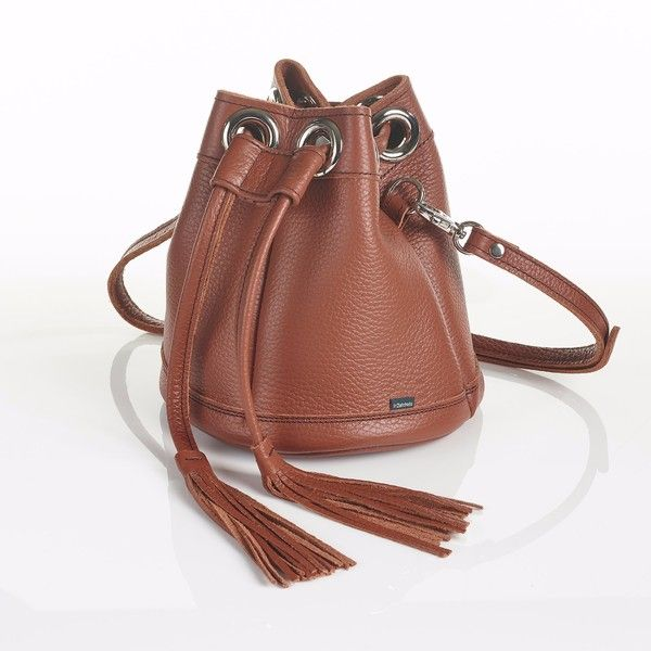 Zatchels - Whitwick Russet Brown Mini Bucket Bag ($115) ❤ liked on Polyvore featuring bags, handbags, leather backpack handbags, mini backpack purse, mini bucket bag, leather handbags and leather purse