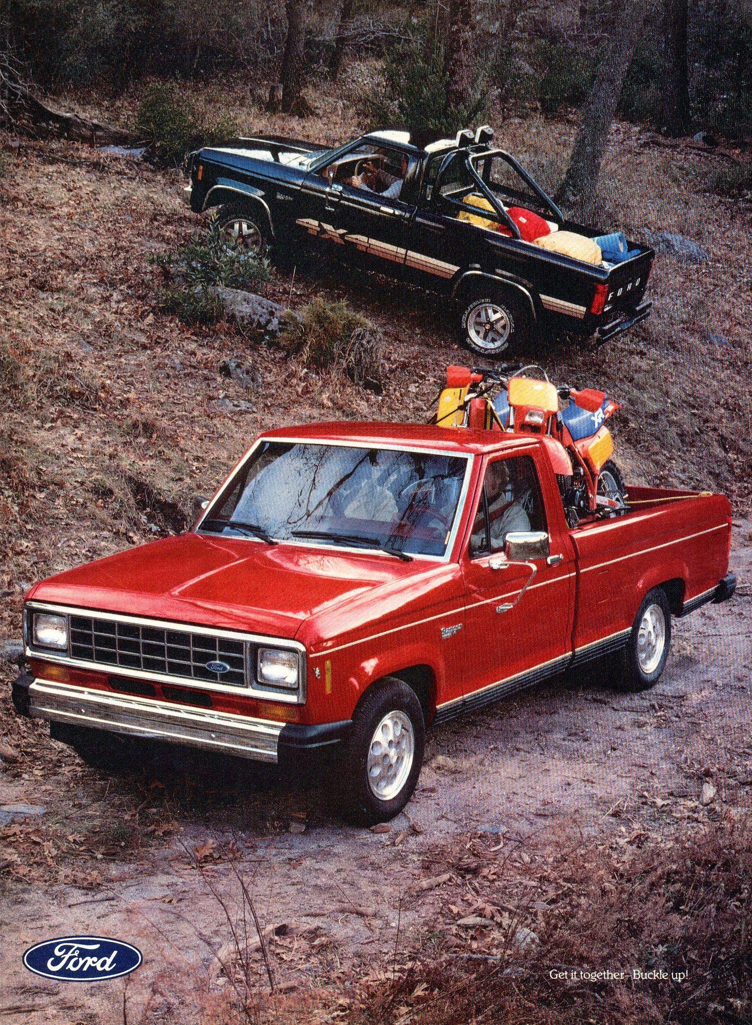 1985 Ford Ranger 4x2 4x4 Pickup Trucks Page 2 Usa Original Magazine Advertisement Ford Ranger Pickup Trucks Ford Ranger Xl