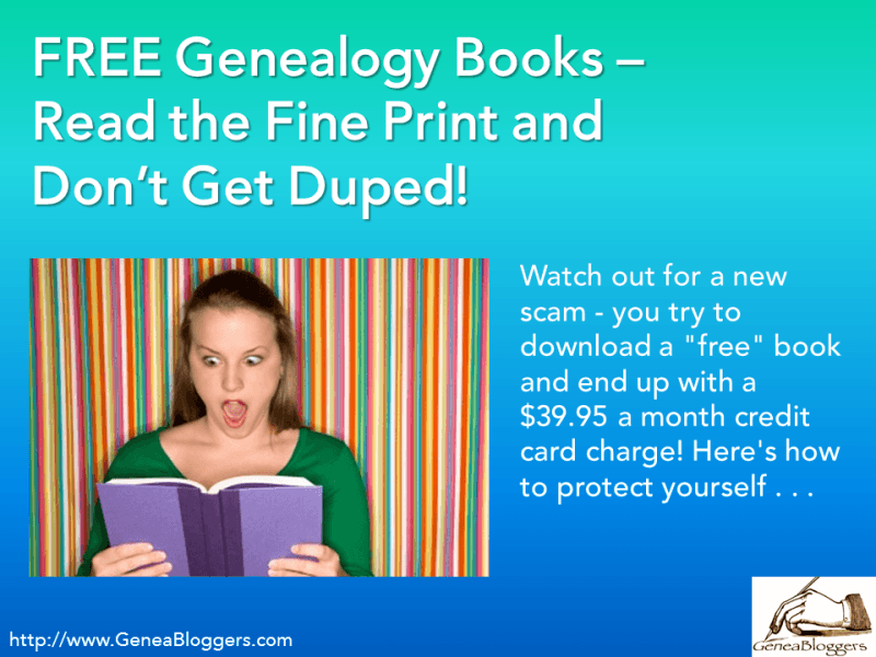 free genealogy books read the fine print and don t get duped