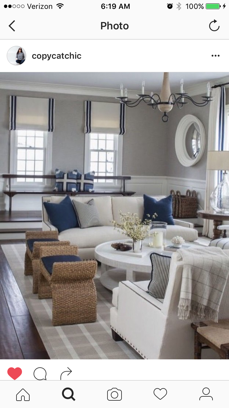 Extra Seating Living Rooms Neutral Colors Stripes