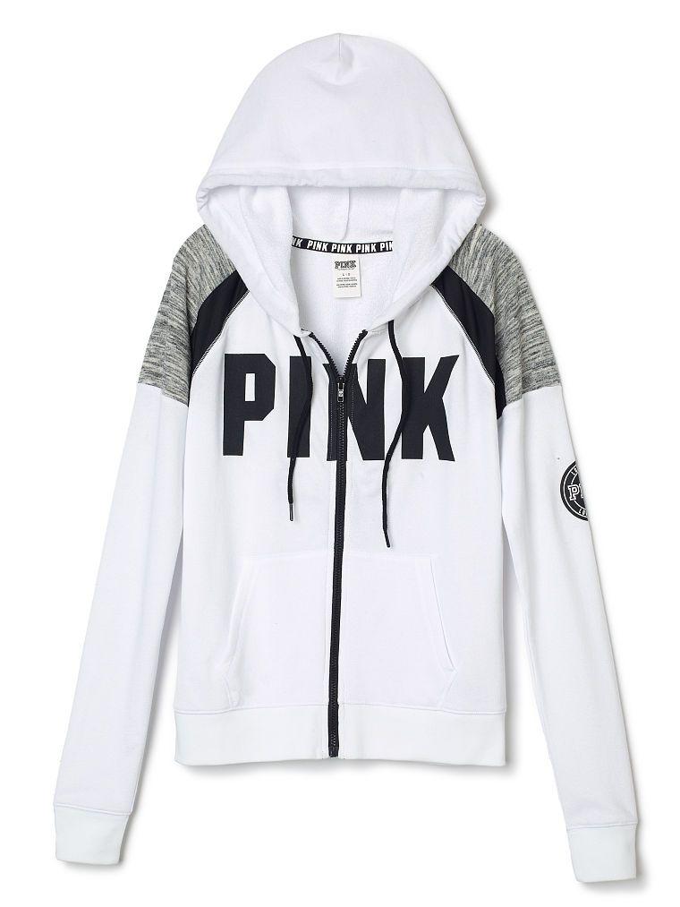 c8ad0362c7e1 Perfect Full Zip Hoodie - PINK - Victoria s Secret