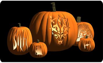 FREE Star Wars Pumpkin Stencils!