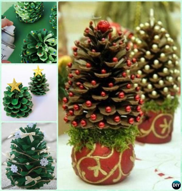 Diy Pine Cone Christmas Tree Instruction Kids Craft Ideas Projects