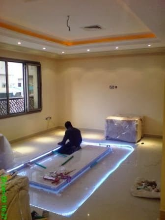 Diy Adding Glass Flooring With Pebble In Your