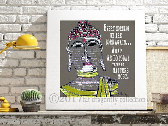 Motivational black and white typography digital art print-Buddha.  Decor for the home or office. Ins #buddhadecor