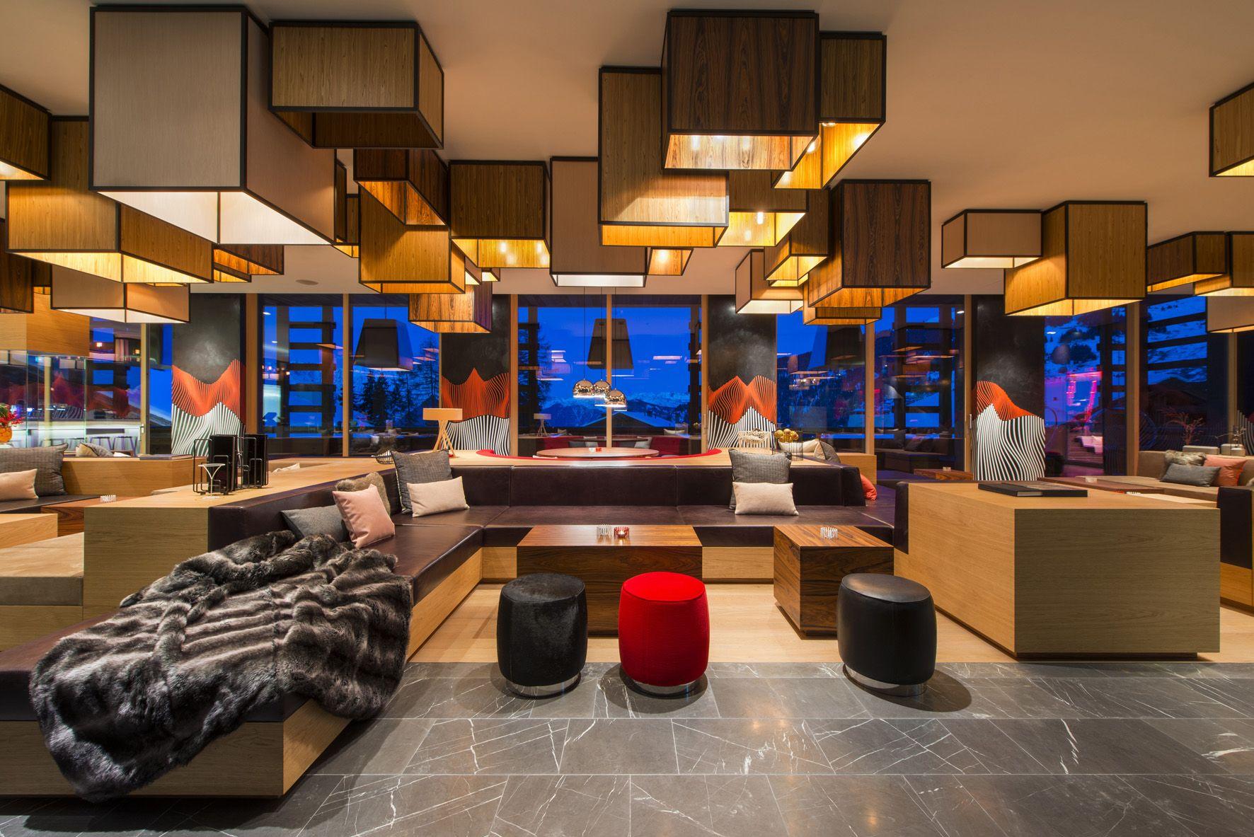 W Hotel Verbier Switzerland W Hotel Interior Design Interior W living room verbier