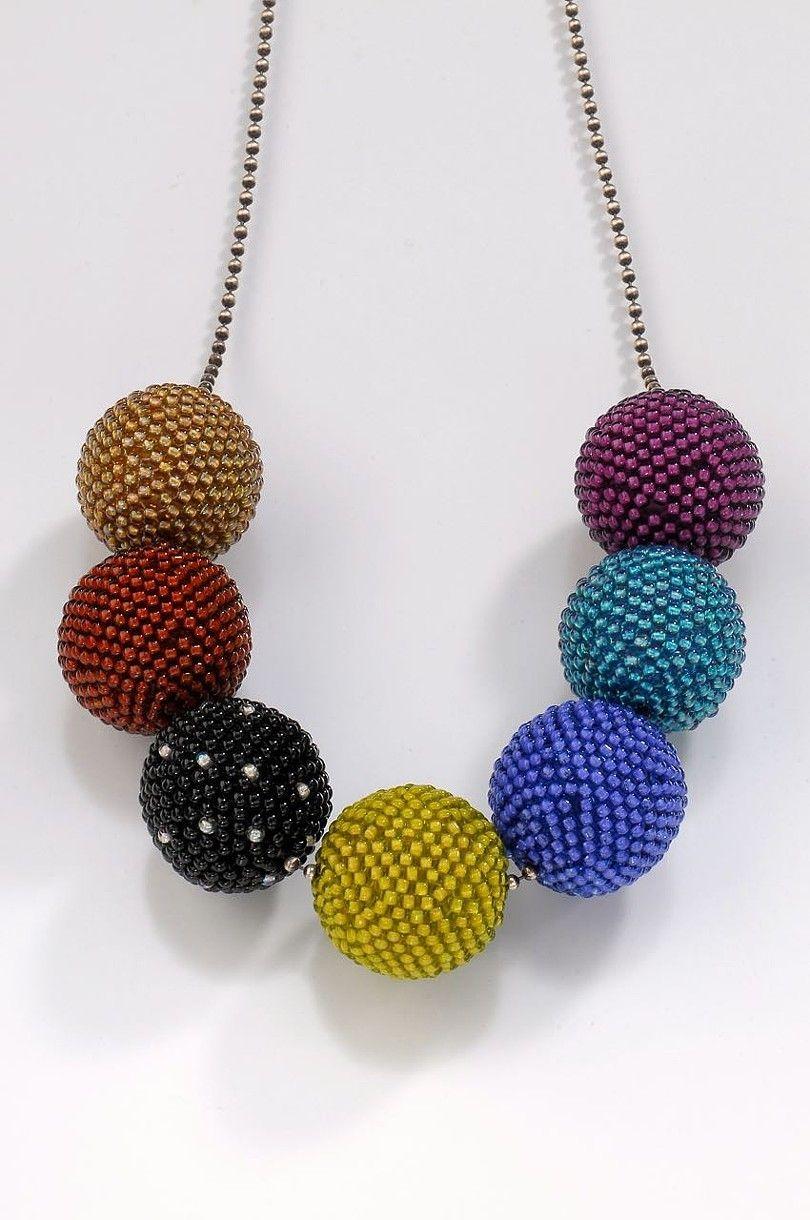 Beaded Beads in Winter Tones