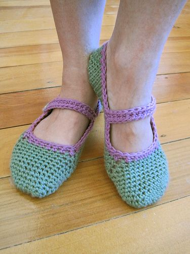 Free Pattern For Crocheted Mary Jane Slippers Free Crochet Slipper