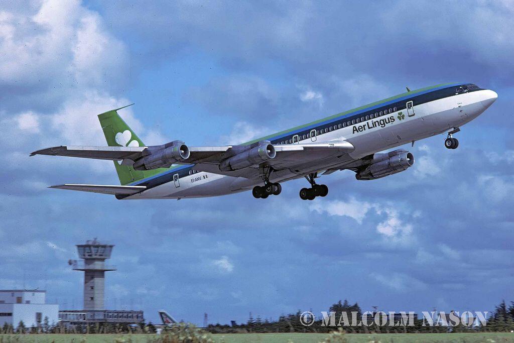 Aer Lingus logo vintage irish Airline Aviation T-Shirt