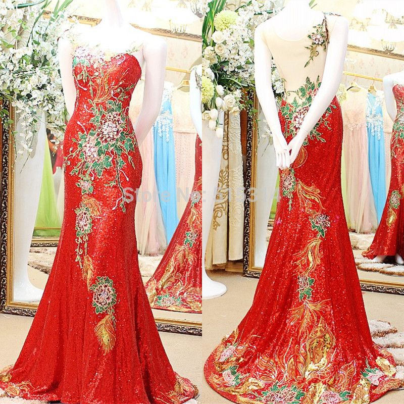 >> Click to Buy << Sexy Mermaid Backless Long Sequins Flowers Luxury Woman 2017 New wedding party dresses for special occasion dresses EX5 #Affiliate