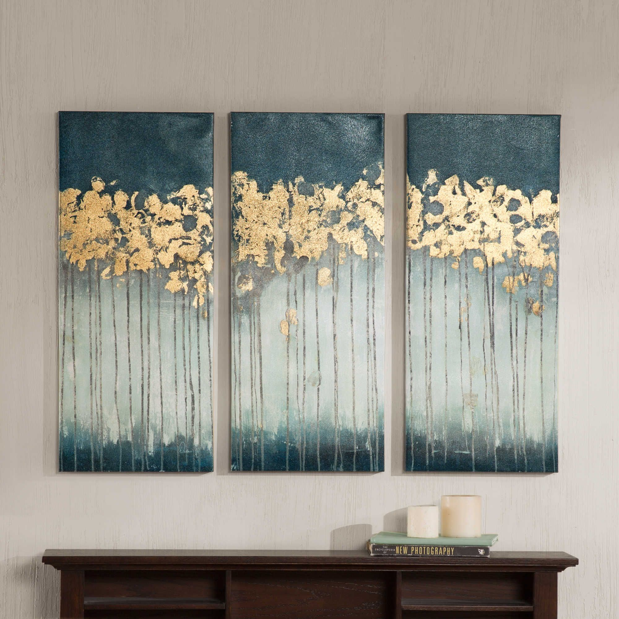 Madison Park Midnight Forest 3 Piece Canvas Wall Art Bed Bath Beyond Canvas Wall Art Set Canvas Wall Art Wall Art Sets
