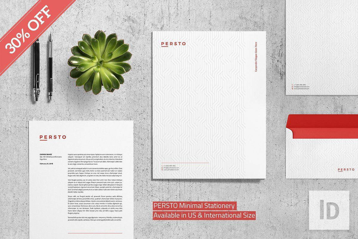 Fonts Persto Minimal Stationery Cleaning companies